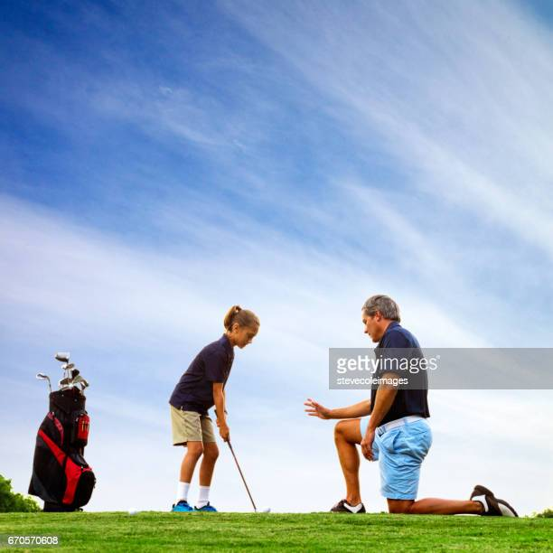 Father and Daughter Golf