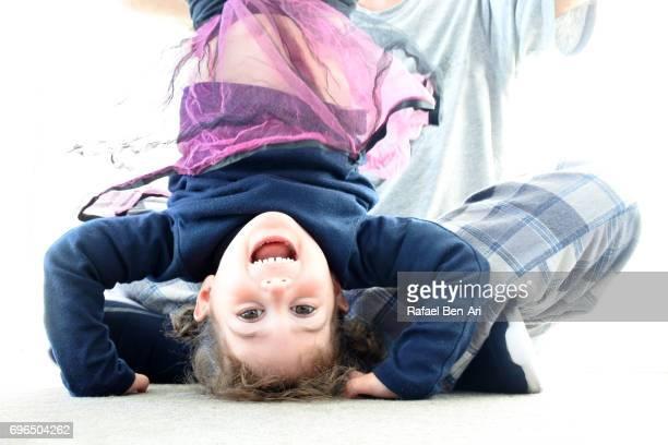 father and daughter having fun together - rafael ben ari fotografías e imágenes de stock