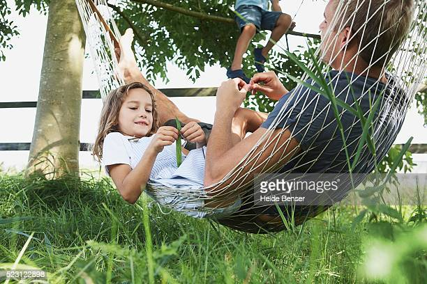 Father and Daughter in Hammock