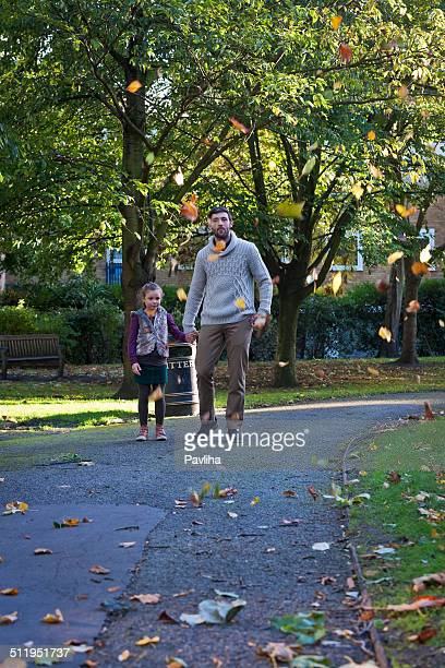 Father and Daughter in Park, London UK