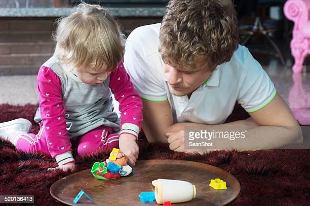 父と娘と遊ぶ Plasticine