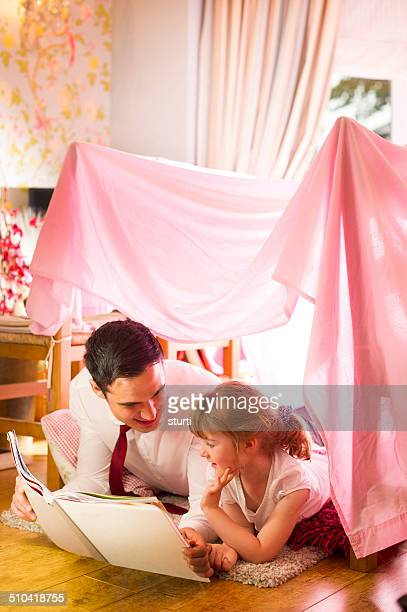 father and daughter storytime