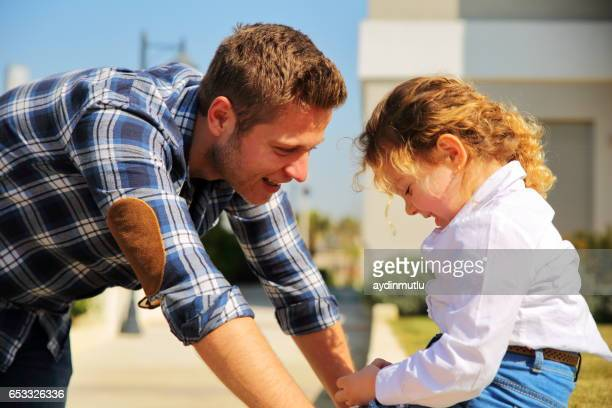 father and daughter talking - shy stock pictures, royalty-free photos & images