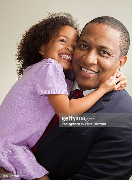 a father and daughter's joy - leanintogether stock pictures, royalty-free photos & images