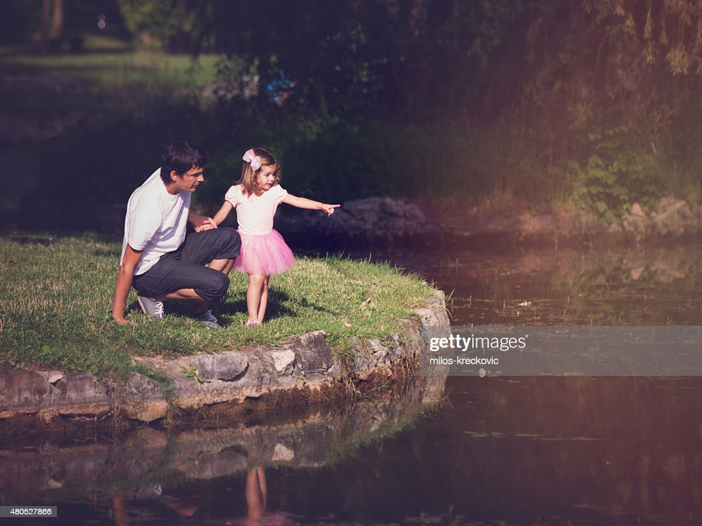 Father and his daughter : Stock Photo