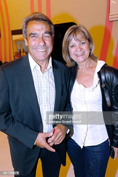 Father and Mother of Laurent Gerra Nanou et Nicole Gerra attend 'L'Escalier De Fer' with Laurent Gerra Private Screening in Paris on September 23...