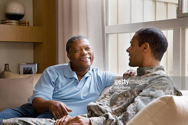 Father and Soldier Reunited