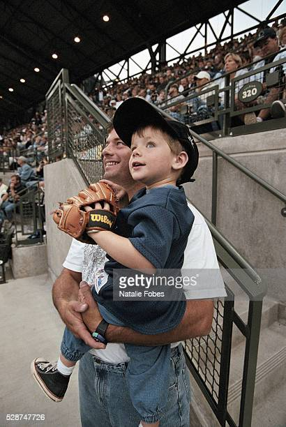 Father and Son at a Baseball Game