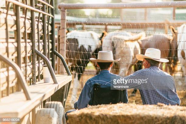 Father and Son at Rodeo Arena