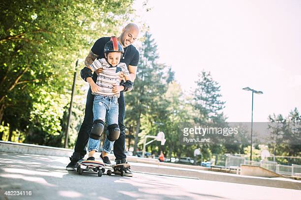 Father and Son at Skate Park