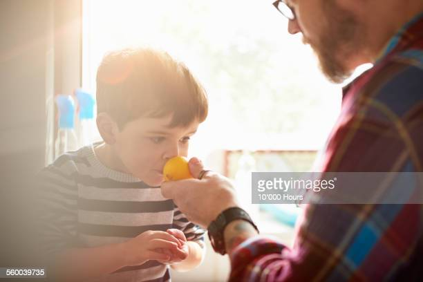 father and son cooking together - cooked stock pictures, royalty-free photos & images
