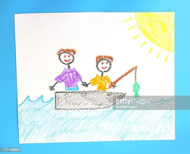 Père et fils de pêche