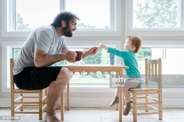Father and Son Having Fun Together