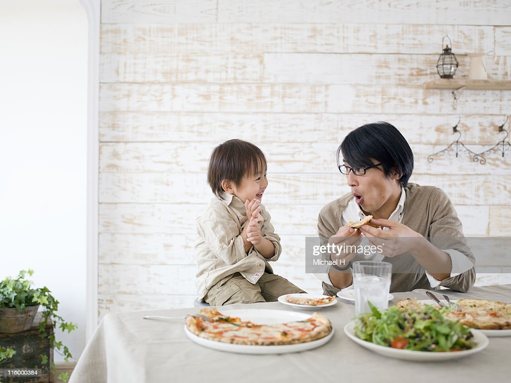 Father and Son holidays : Stock Photo