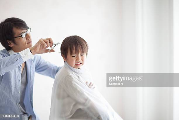 Asian Child Haircut Stock Photos And Pictures Getty Images