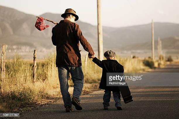 Padre e hijo viaje
