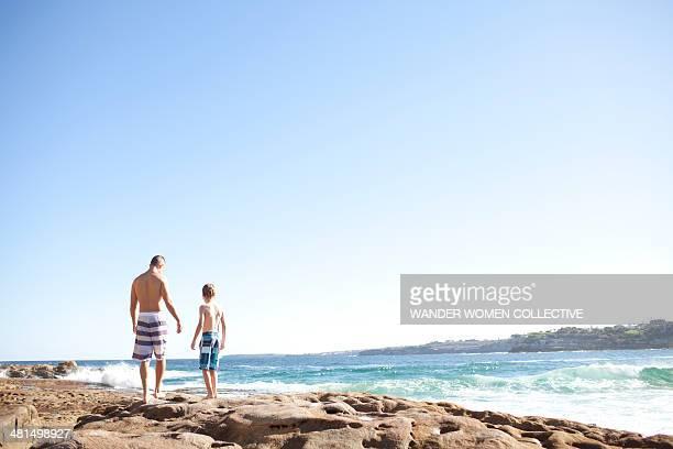 Father and Son North Bondi rocks