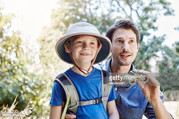 Father and son on expedition