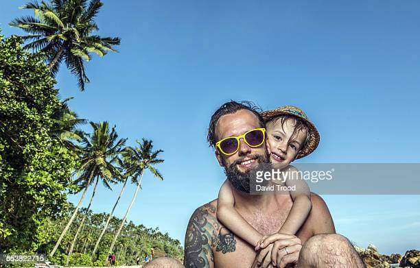 Father and son on vacation in Sri Lanka