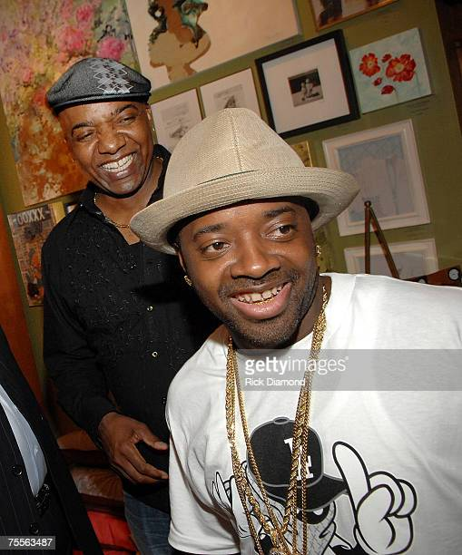 Father and Son Party Host Michael Mauldin and Jermaine Dupri at Shop SCAD for The Mauldin Brand Fast Life VIP Power Mixer on July 192007 in Atlanta...
