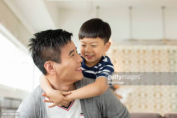father and son - east asian culture stock photos and pictures
