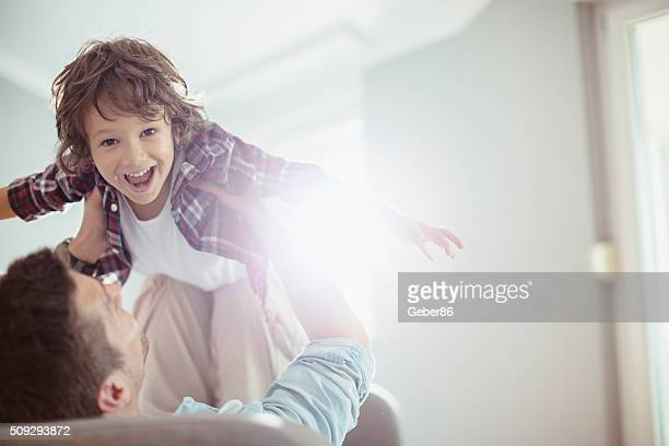 father and son - sober leven stockfoto's en -beelden