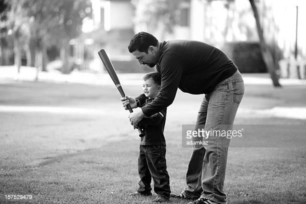 Père et fils, jouer au ballon