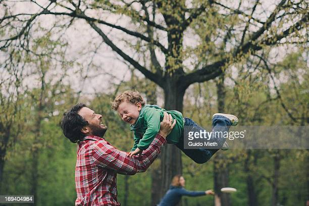father and son playing - bonding stock pictures, royalty-free photos & images