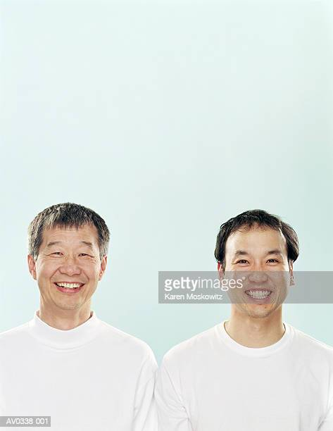 Father and son, portrait, close-up