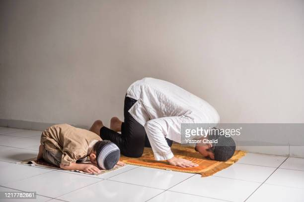 Father and Son Praying