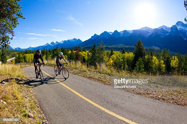 Father and Son Road Bicycling
