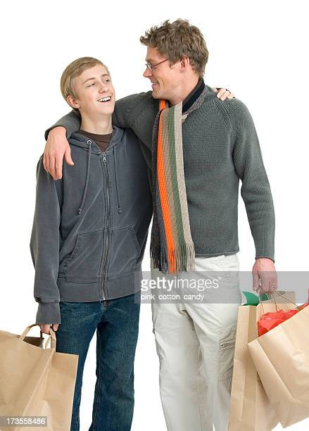 Father and Son Shopping