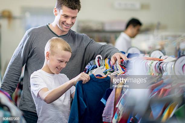 Father and Son Shopping Together