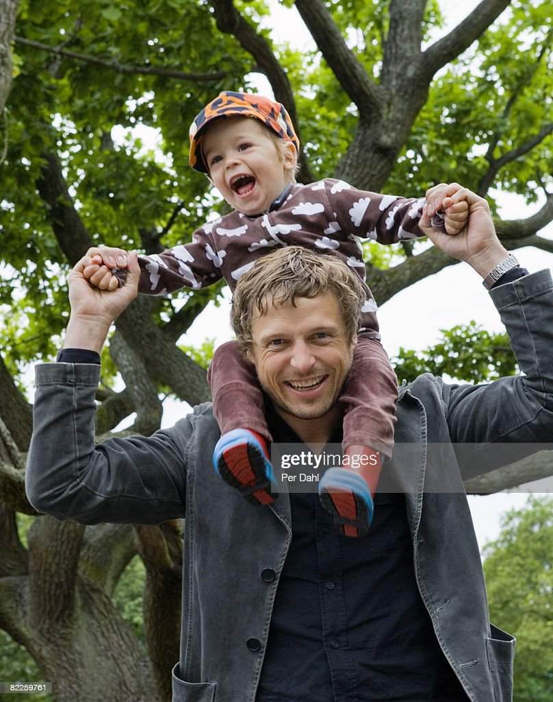 Father and son Sweden. : Stock Photo