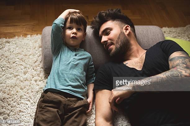 Vater und Sohn Zeit