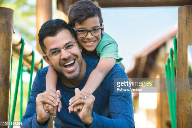 father and son together - one parent stock pictures, royalty-free photos & images