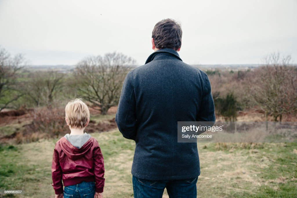 Father and son together : Stock Photo