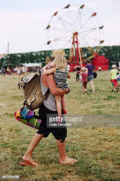 Father and Young Child at a festival