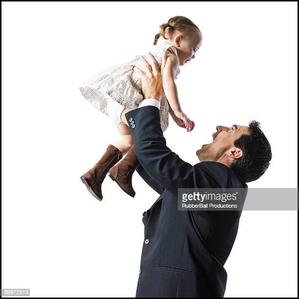 father and young daughter
