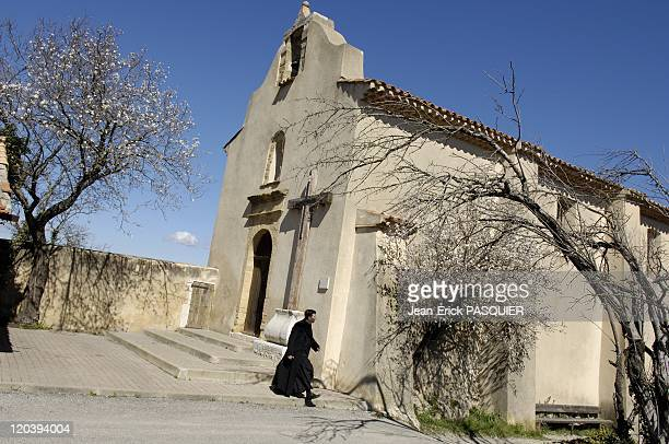 Father Andre A Country The Priest In France Father Andre front of the chapel at St John Rians