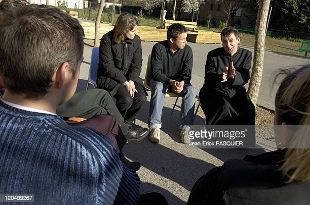 Father Andre A Country The Priest In France Father Andre have a great discussion with young people during the meetings preceding the marriage
