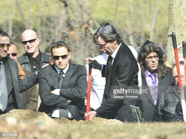 Father Bernie Haim attends the private funeral service for her son Corey Haim at Pardes Shalom Cemetery on March 16 2010 in Thornhill Canada