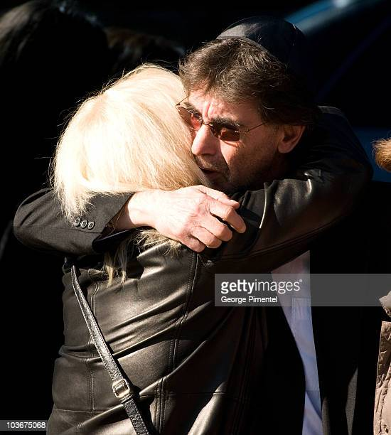 Father Bernie Haim attends the private funeral service for his son Corey Haim at Steeles Memorial Chapel on March 16 2010 in Thornhill Canada