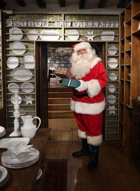 Father Christmas Arrives At Liberty London To Kick Off The Festive Season On November 19