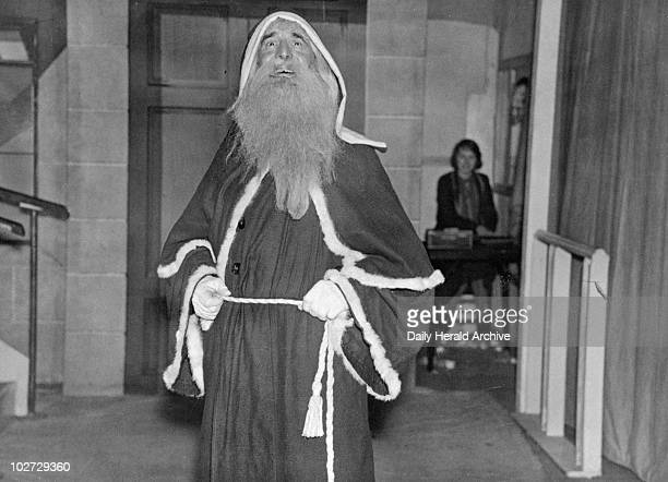 Father Christmas at Pontings' department store Kensington in London 5 December 1934 Photograph by Tomlin Father Christmas at Pontings' department...