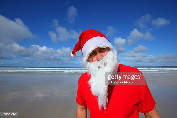 Father Christmas at the beach