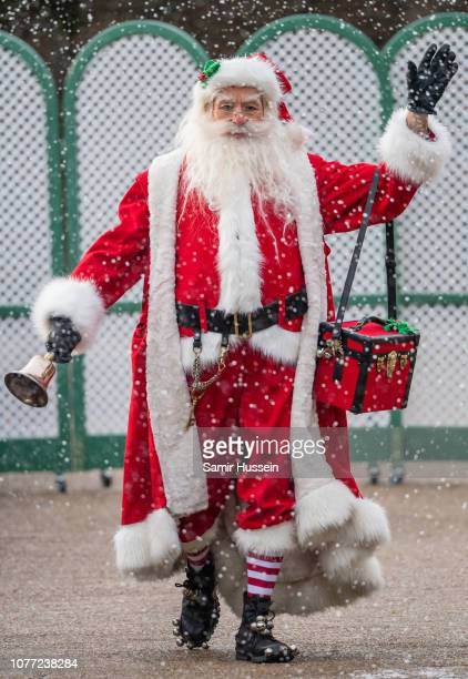 Father Christmas attends a party for families of military personnel deployed in Cyprus at Kensington Palace on December 04 2018 in London England