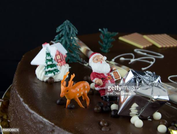 A Father Christmas cake