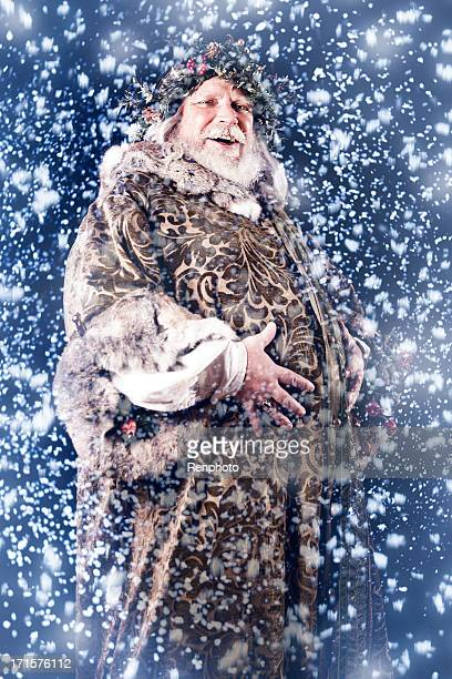 father christmas - winter solstice stock photos and pictures