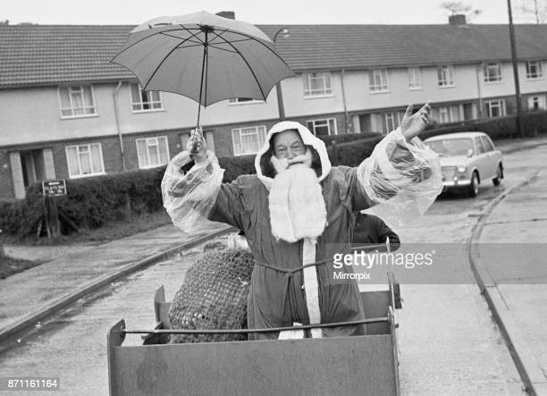 Father Christmas seen here touring the roads of Burghfield during his journey to Willink School to deliver present at the lower schools Christmas...